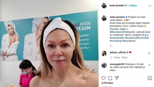 Neda Ukraden je pri svojih 70 letih (in brez vsake šminke) videti 'kot punčka' (foto: Neda Ukraden Instagram)