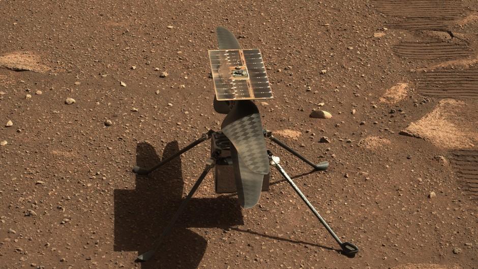Helikopter Ingenuity opravil prvi polet na Marsu (foto: Jpl-Caltech/NASA)