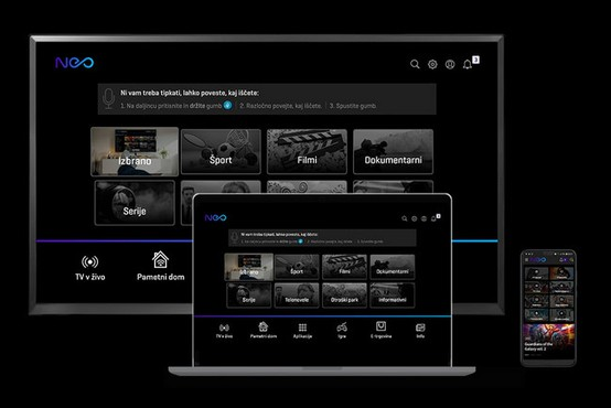 Platforma NEO, ki omogoča tudi upravljanje TV-vsebin z glasom, ima že več kot 100.000 uporabnikov