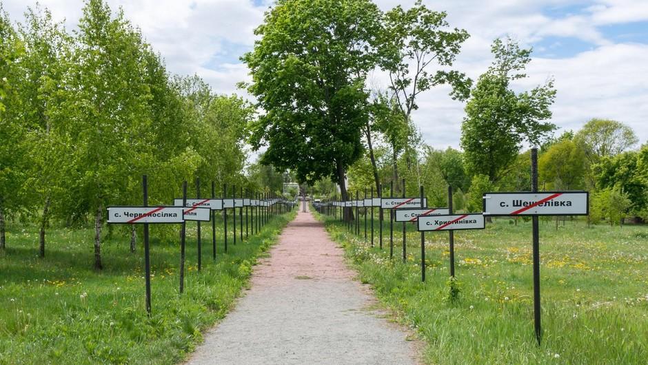Spomenik uničenim mestom po nesreči v Černobilu (foto: profimedia)