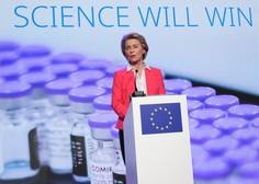 Ursula von der Leyen po obisku obratov Pfizerja napovedala 70-odstotno precepljenost že julija