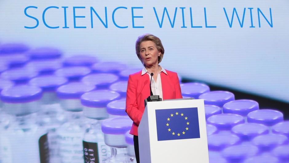 Ursula von der Leyen po obisku obratov Pfizerja napovedala 70-odstotno precepljenost že julija (foto: profimedia)
