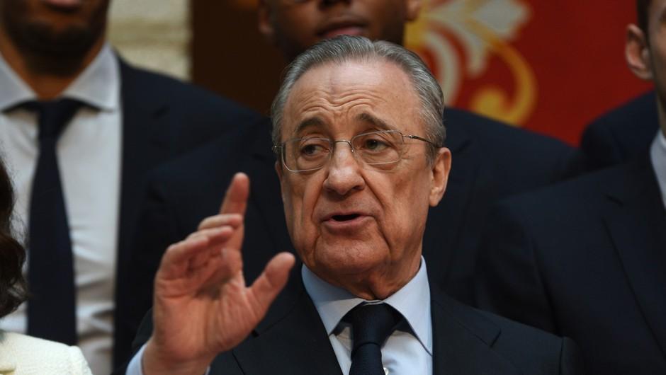 Florentino Perez zatrdil, da zgodbe o nogometni superligi ni konec (foto: profimedia)