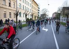 Petkovi protestniki na kolesih so tokrat izrazili tudi podporo STA