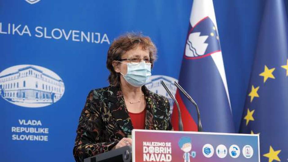 Čakš Jagrova: Cepljenje kaže učinke pri starejših in pedagoškem kadru (foto: Daniel Novakovič/STA)