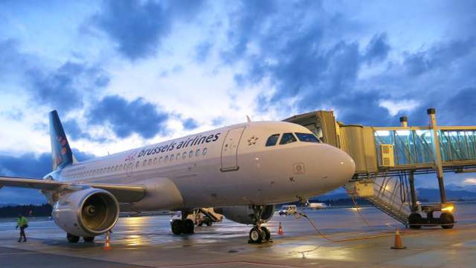 Brussels Airlines nekoliko zamaknil začetek letov med Ljubljano in Brusljem (foto: Tinkara Zupan/STA)