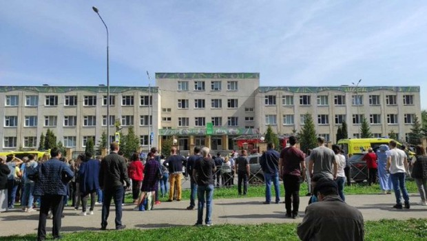 V streljanju na šoli v ruskem Kazanu ubitih več ljudi (foto: Twitter)
