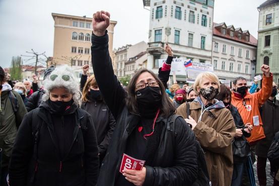 Petkovi protestniki: Zakon o vodah podeljuje privilegije kapitalu, na škodo ljudi in narave