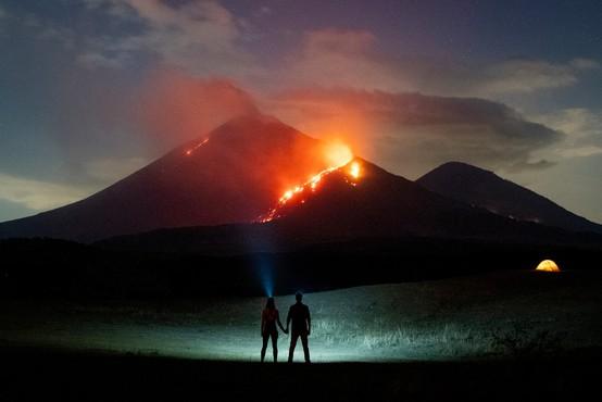 Gvatemalska pica, pečena na lavi bruhajočega vulkana Pacaya
