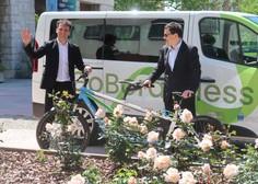 Z električnim kolesom tandemom na posebno etapo dirke po Italiji