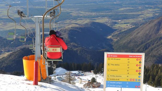 Zaradi novega snega na Krvavcu ponovno zagnali naprave, za vikend bo smuka mogoča tudi na Kaninu (foto: Shutterstock)