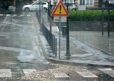 Zaradi obilnih padavin vodnatost rek povečini že velika