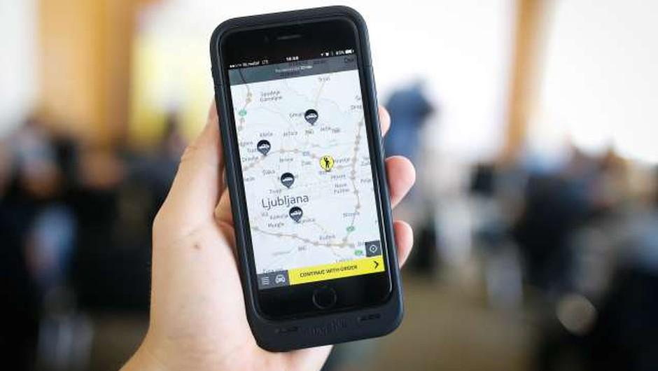 V Slovenijo se je vrnila mobilna aplikacija Hopin Taxi (foto: Anže Malovrh/STA)