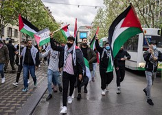 Petkov protest v Ljubljani z ultimatom vladi, naj odstopi in s podporo Palestincem