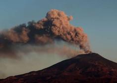 Na Siciliji četrtič v zadnjem tednu doživeli izbruh Etne