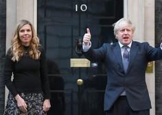 Britanski premier Boris Johnson še tretjič stopil pred oltar