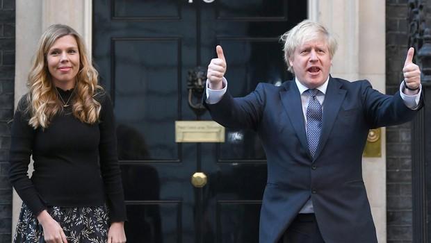 Britanski premier Boris Johnson še tretjič stopil pred oltar (foto: profimedia)