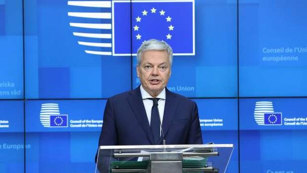 Reynders glede tožilcev pozval Slovenijo, naj izpolni obveznosti (foto: Dursun Aydemir/pool/STA)