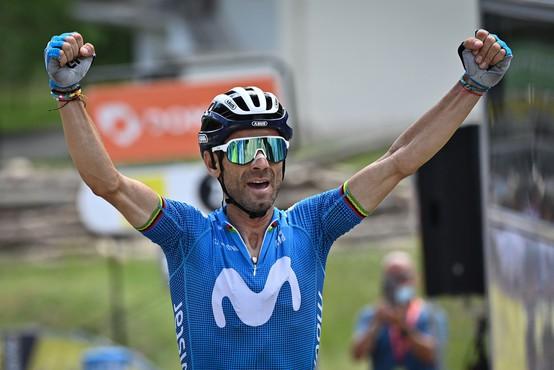 Španski kolesar Valverde pri 41 letih osvojil etapo