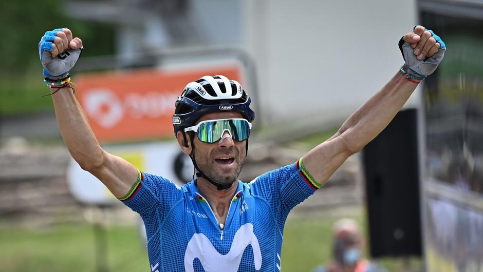Španski kolesar Valverde pri 41 letih osvojil etapo (foto: Profimedia)