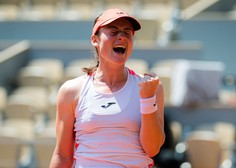 Tamara Zidanšek v polfinalu Roland Garrosa