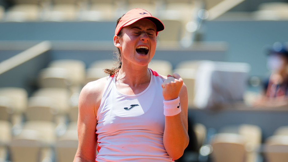 Tamara Zidanšek v polfinalu Roland Garrosa (foto: Profimedia)