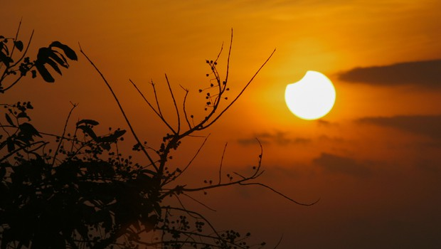 Opoldne bo v Sloveniji viden delni sončev mrk (foto: Shutterstock)