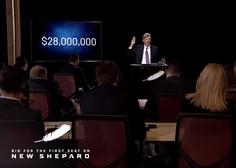 Za desetminutni polet v vesolje Blue Origin na dražbi iztržil 28 milijonov dolarjev