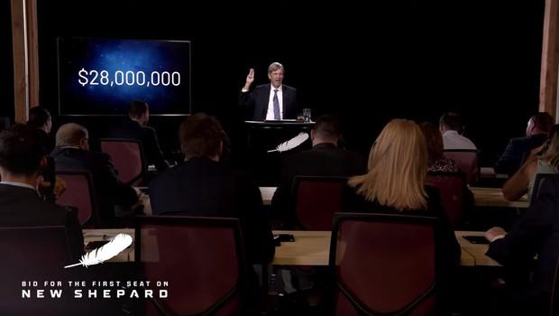 Za desetminutni polet v vesolje Blue Origin na dražbi iztržil 28 milijonov dolarjev (foto: profimedia)