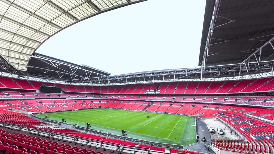 Stadion Wembley bo za finale eura gostil največjo britansko množico ljudi po več kot 15 mesecih (foto: Shutterstock)