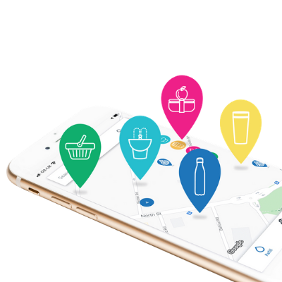 S pomočjo aplikacije je že od 16. junija dalje mogoče pridobiti informacije o lokacijah trgovin, ki ponujajo izdelke brez embalaže, javnih pitnikih in gostinskih obratih, kjer je mogoč nakup hrane in pijače z lastno embalažo. Vir podatkov za Slovenijo je portal Ekologov brez meja, Manj je več.