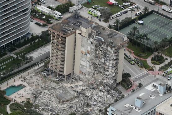 V Miamiju se je ponoči zrušil del 12-nadstropnega bloka, ena oseba umrla, 150 jih pogrešajo