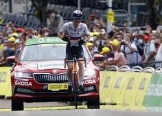 Matej Mohorič si je priboril etapno zmago kolesarske dirke po Franciji