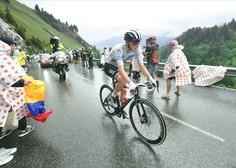 Tadej Pogačar si je po drznem samostojnem begu po 8. etapi že oblekel rumeno majico