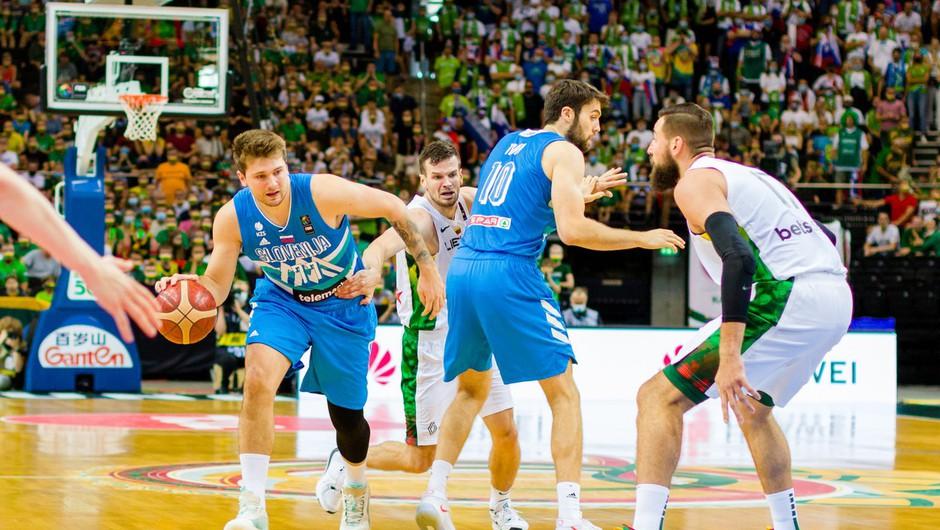 Slovenski košarkarji premagali še Litvo in se prvič uvrstili na olimpijske igre (foto: profimedia)