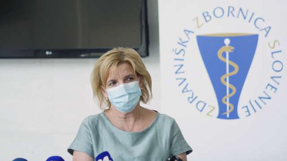 Beovićeva: Stroka mora stati za tem, da se vsi ljudje cepijo proti covidu-19 (foto: Aleš Osvald/STA)