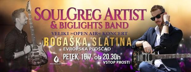Koncert SoulGrega Artista & BigLights banda v Rogaški Slatini (foto: SoulGreg Artist)