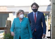 Justin Trudeau in Angela Merkel sta po AstraZeneci v drugo cepljena z Moderno