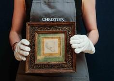 Za da Vincijevo risbico medvedje glave kupec na dražbi odštel 8,8 milijona funtov