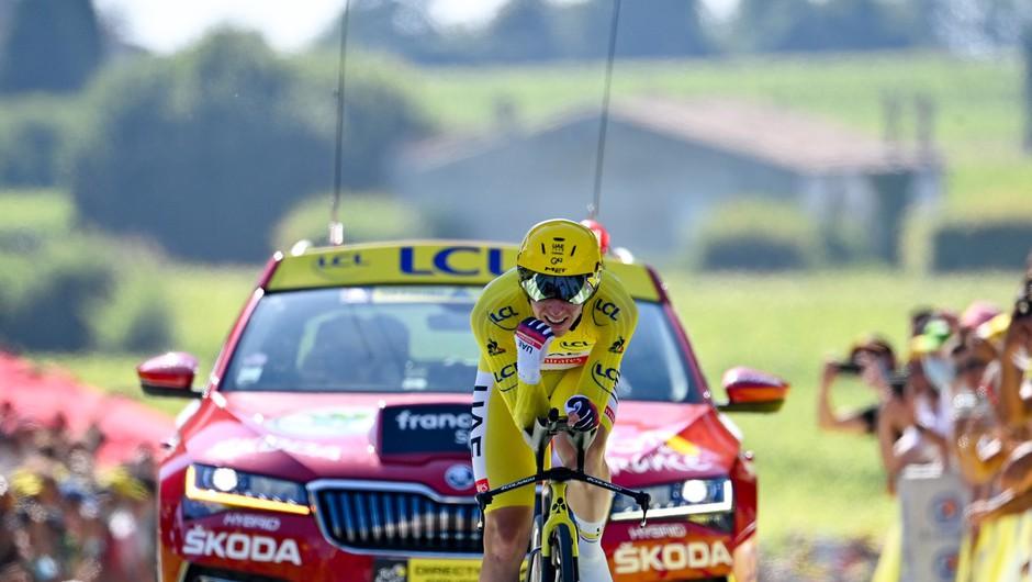 Pogačar na kronometru zadržal prednost in si prikolesaril drugo zmago na Touru (foto: profimedia)
