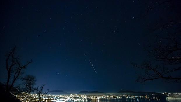Norveško nebo je ponoči razsvetlil meteorit, ki je padel nedaleč od Osla (foto: profimedia)