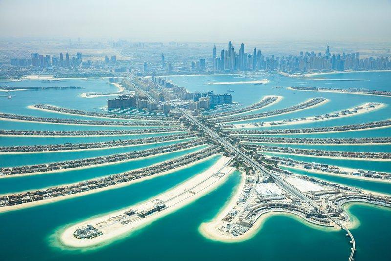 Umetni otoki v Dubaju.