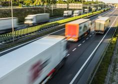 Na naših avtocestah od novembra težka tovorna vozila ne bodo več smela prehitevati