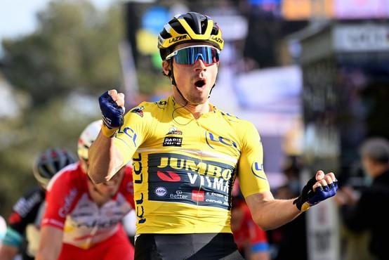 Po hitri deveti etapi Roglič zvišal prednost v skupnem seštevku na 28 sekund
