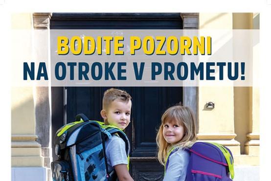 Poziv k večji prometni varnosti na prvi šolski dan – preverite, kje bodo terenske akcije