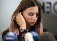 Kristina Timanovska prodala kolajno in denar namenila skladu za pomoč beloruskim športnikom