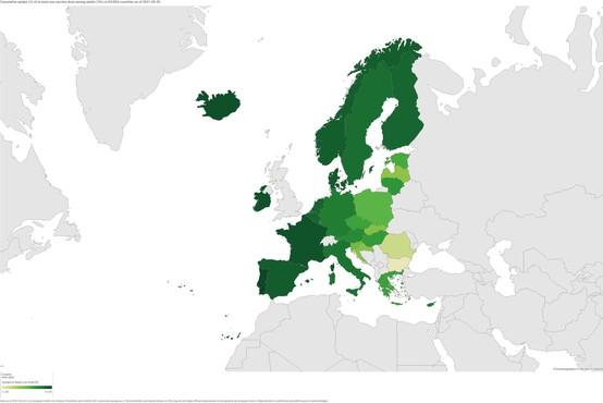 V EU polno cepljenih 70 odstotkov odraslih