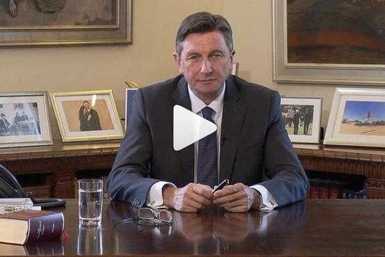 Pahorjevo ganljivo sporočilo šolarjem, učiteljem in staršem za prvi šolski dan