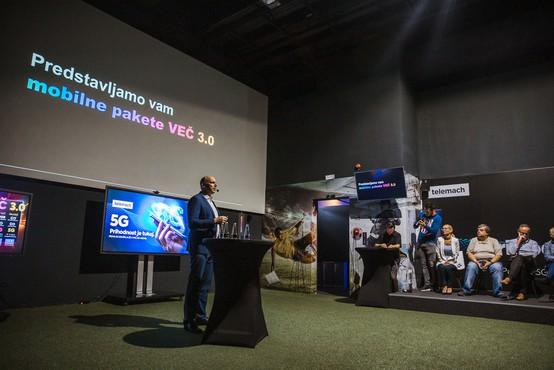 Telemach predstavlja največjo 5G pokritost in prenovljene mobilne pakete VEČ 3.0