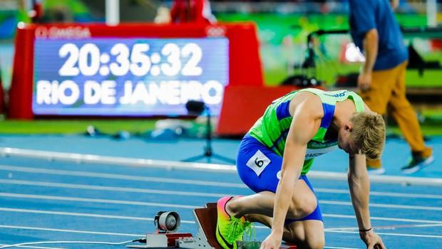 Atlet Luka Janežič na letošnjih OI dosegel dva osebna izida sezone, kar je tisto, kar šteje (foto: osebni arhiv)